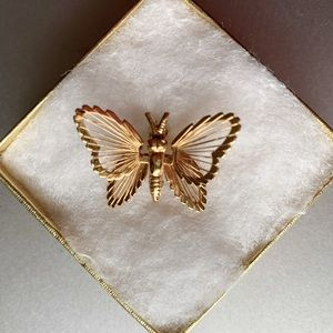 Butterfly Pin by Monet Finely Detailed Brooch